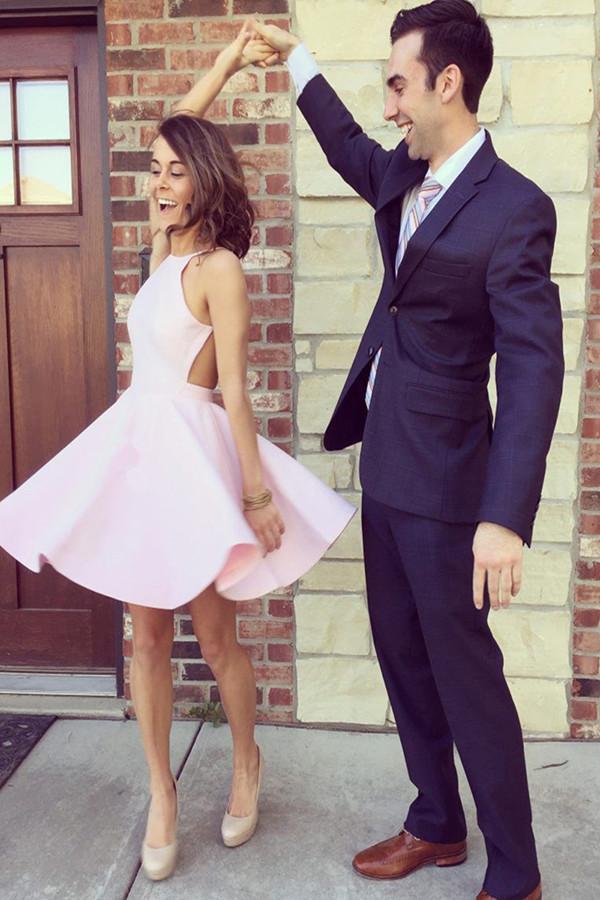 Light Pink Homecoming Dress fda66812b