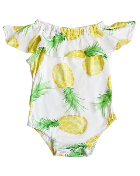 c5152729e64 Pineapple Flutter Pom Pom Romper · More Than Me ·