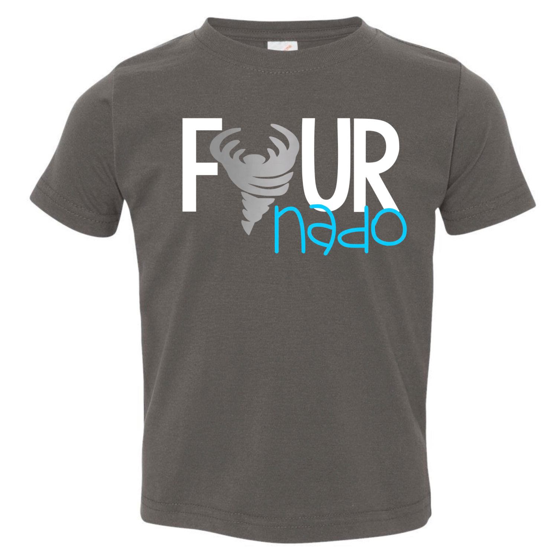 Fournado Funny Kid39s TShirt Fourth Birthday 4th