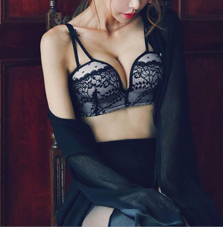 9295afc8da38e9 FREE Shipping Lace Underwear Bra Set Push Up Bra +Sexy Lingerie ...