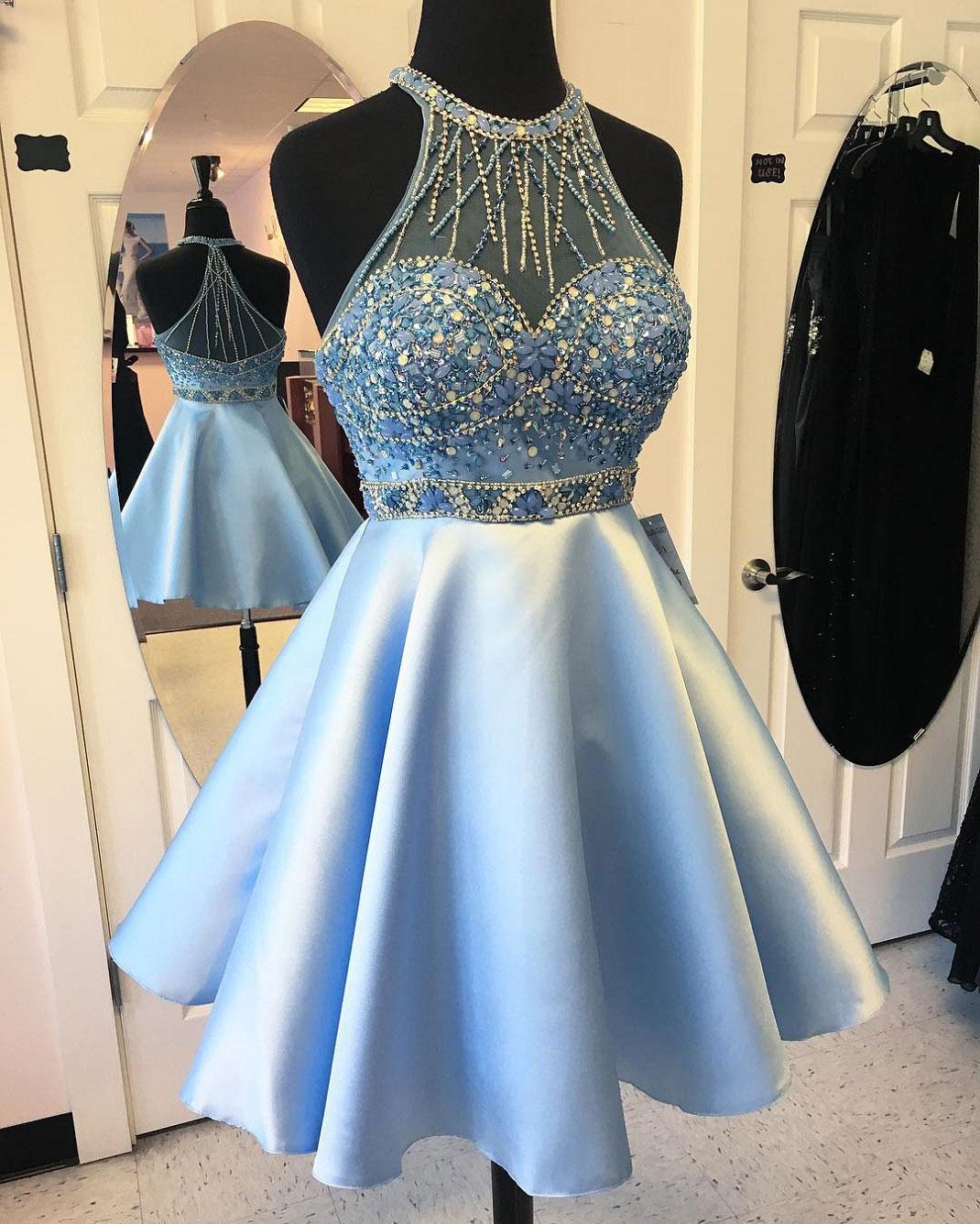 0a6aa66d6cc Charming Beaded Homecoming Dresses