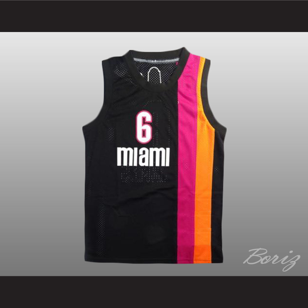 half off 53a31 7738a Lebron James 6 Old School Floridians Basketball Jersey New from acbestseller