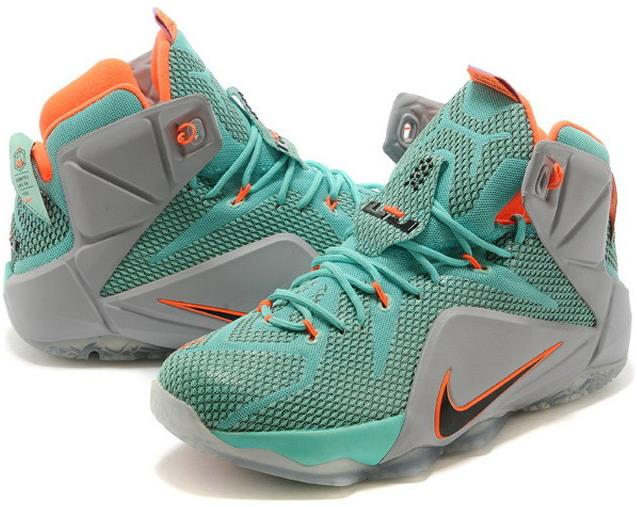 Lebron 12 Xii Green Black Orange Grey