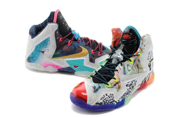 newest 40ca3 d34fb What The LeBron * Nike LeBron James 11 Basketball Shoes Fashion Nike LeBron  James Soldier Sport ...