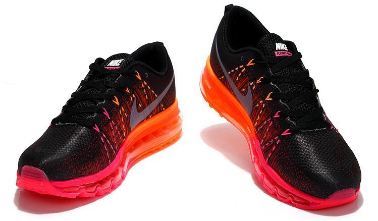buy online 4a897 ee5cf Women Nike Air Max 2014 Flyknit Black Red Orange on Storenvy