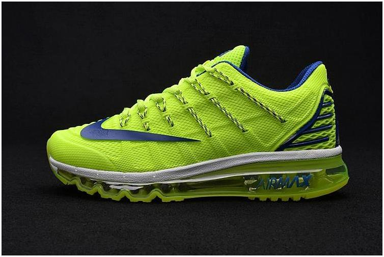 Nike Air Max 2016 Ii Sneakers Nano Tpu Material Fluorescent Green/blue Mens Running Shoes Online Sales Sz 8-13