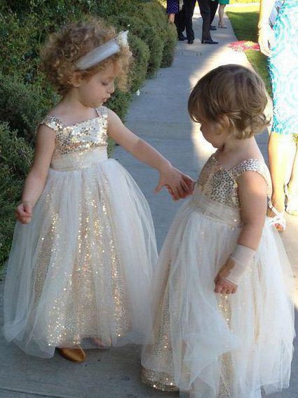 390488e4a38 Simple Flower Girl Dresses with Tulle