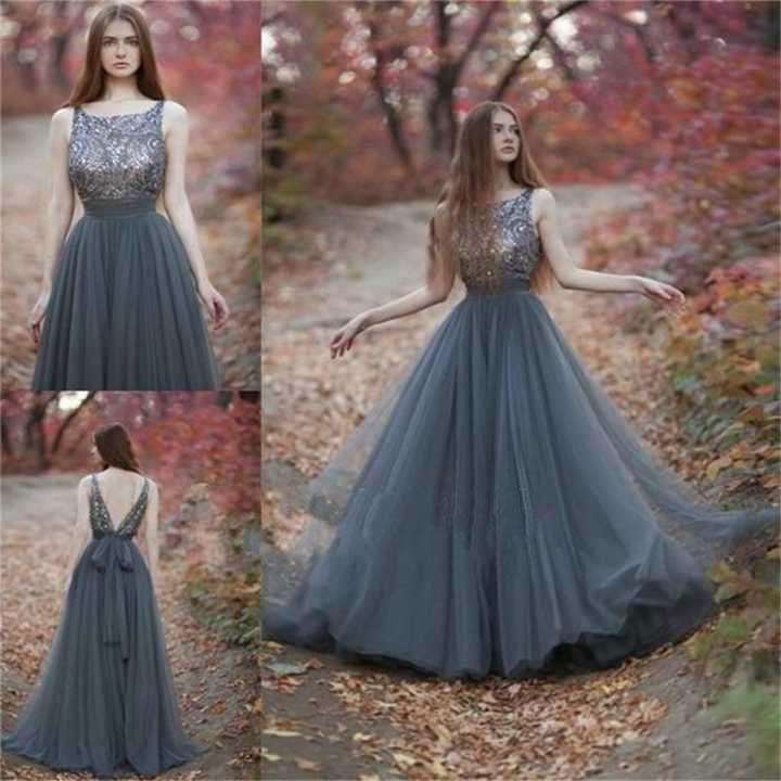 2017 Hot Sell Backless Tulle Long Prom Dresses for Women ...