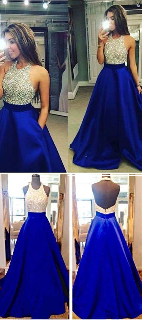 Elegant Prom Dress New Gorgeous Sweet 16 Gowns royal blue evening ...