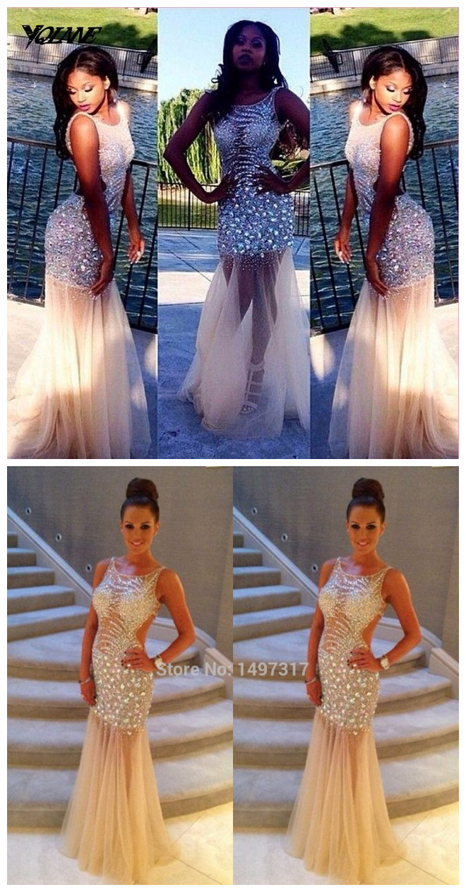 Shiny_Rhinestone_Prom_Dress_with_See_Through_Tulle_Skirt_Hollow_Waist_Scoop_Long_Mermaid_Backless_Luxury_Crystal_Dresss_Prom