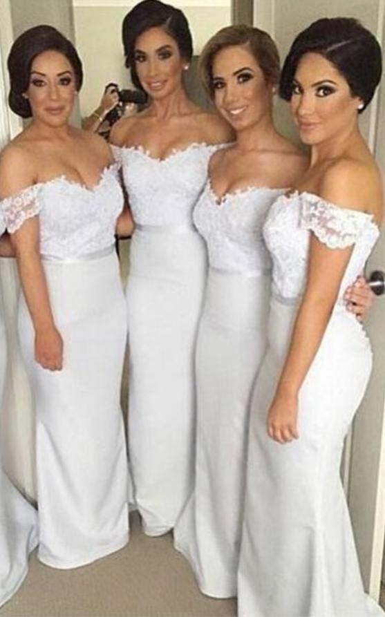 Pretty_Off_Shoulder_Long_White_Bridesmaid_Dresses,Lace_Bridesmaids_Dresses,Mermaid_Bridesmaid_Gowns