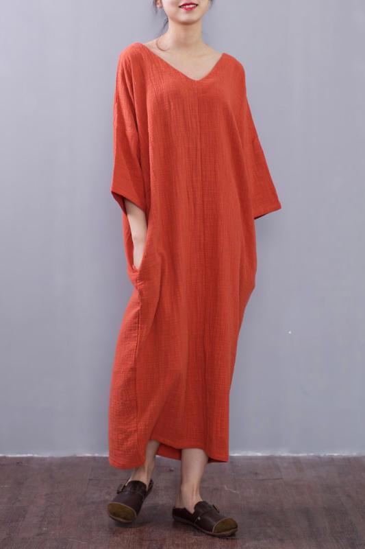 Free shipping,Linen dress,Handmade dress, plus size dress, ladies clothing