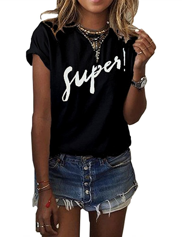 Free Shipping Women 39 S Summer Street Printed Tops Funny