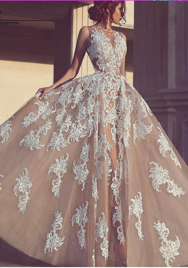 Elegant_Tulle_Sleeveless_A-Line_Appliques_Evening_Dresses_champagne_prom_dress_evening_dresses