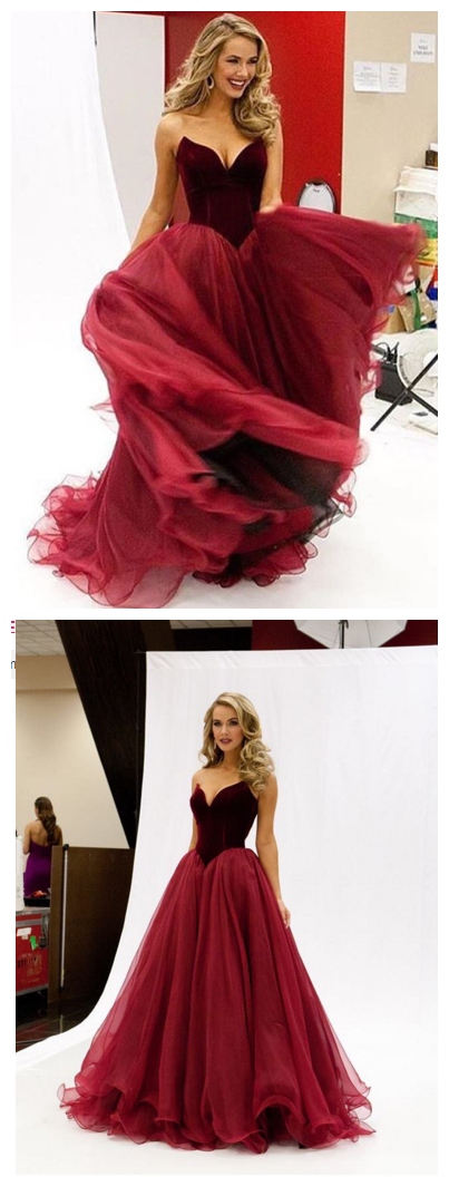 Burgundy_Velvet_Prom_Dresses_Sweetheart_Neck_Long_Princess_Vintage_Evening_Gowns