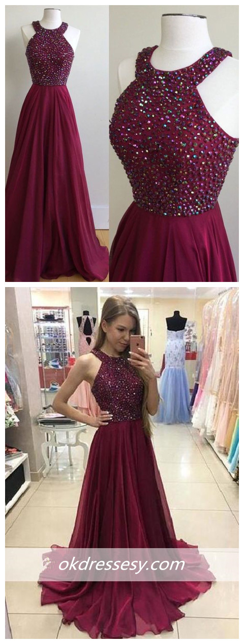 Crystal_Newest_Sleeveless_A-Line_Sweep-Train_Prom_Dress_Sleeveless_A-line_Strapless_Crystals_dark_red_Prom_Dress