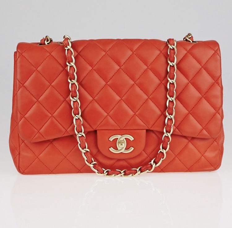 d37d5b373484 Chanel Red Jumbo Flap Bag on Storenvy