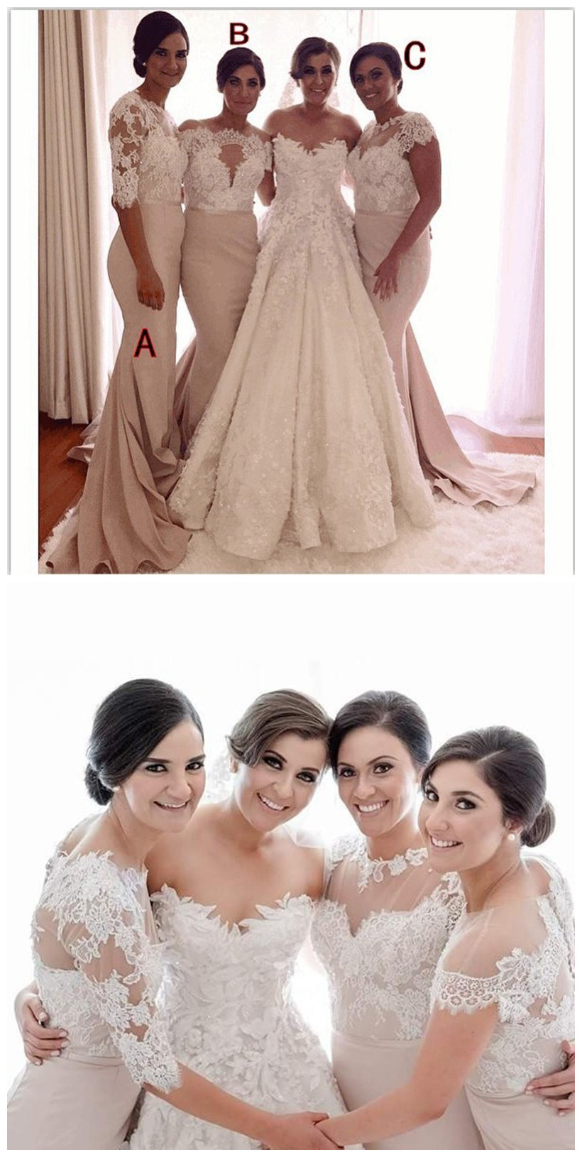 Champagne_Mermaid_Cap_Sleeves_See_Through_Appliques_Lace_Long_Bridesmaid_Dresses_Cheap_Under_50_Wedding_Party_Dresses