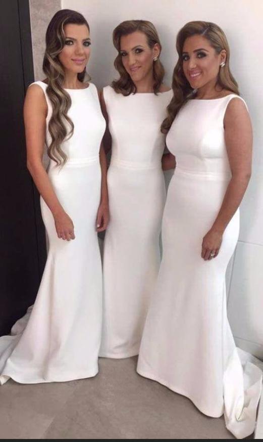 bruidsmeisjes_White_Satin_Bridesmaid_Dresses_Mermaid_long_dresses_to_wear_to_a_wedding_robe_demoiselle_d'honneur_wedding_party_dresses