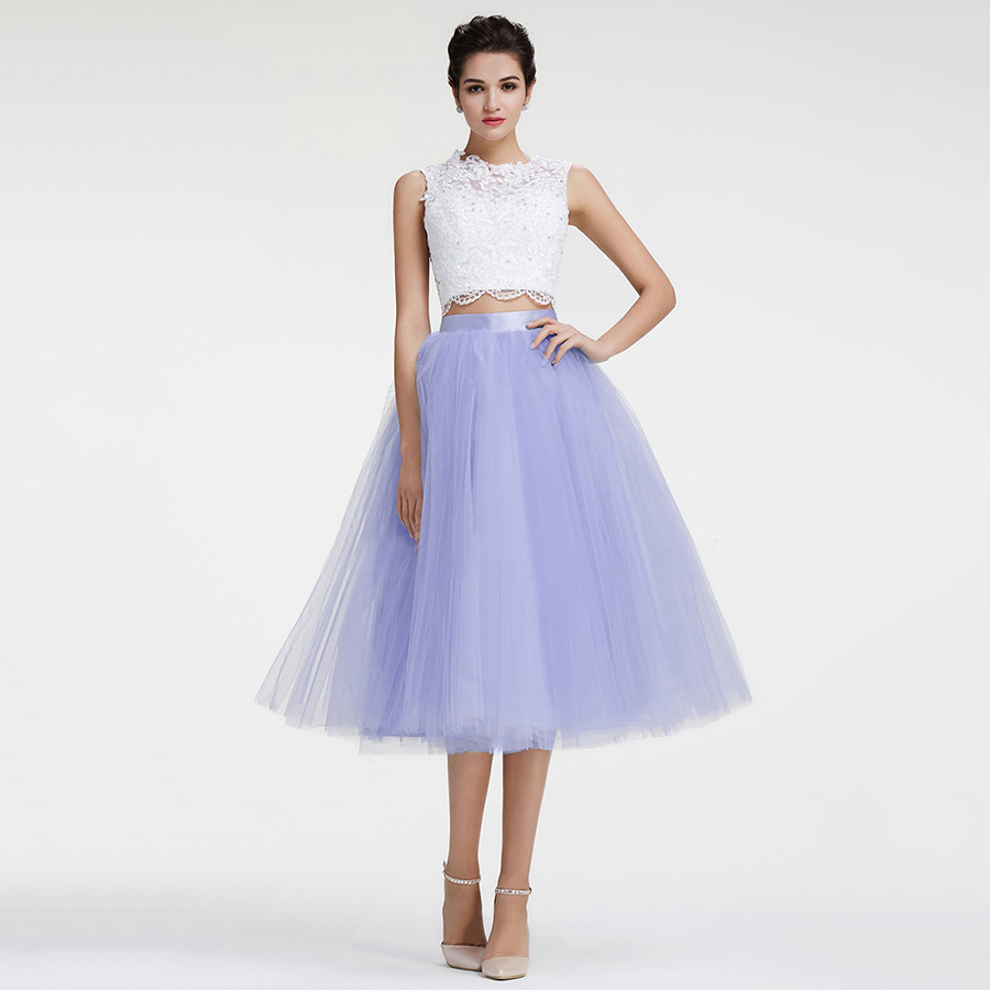 Two Piece Prom Dresses, Ball Gown Short Homecoming Dresses, Scoop ...