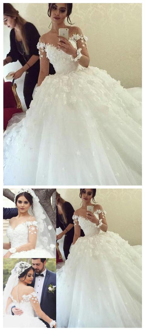 Long-Sleeves_Unique_Appliques_Ball-Gown_Wedding_Dress_Applique_Bridal_Gowns
