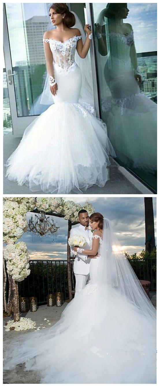 Tulle_Long-Sleeves_Off-the-Shoulder_Appliques_Mermaid_Elegant_Wedding_Dress