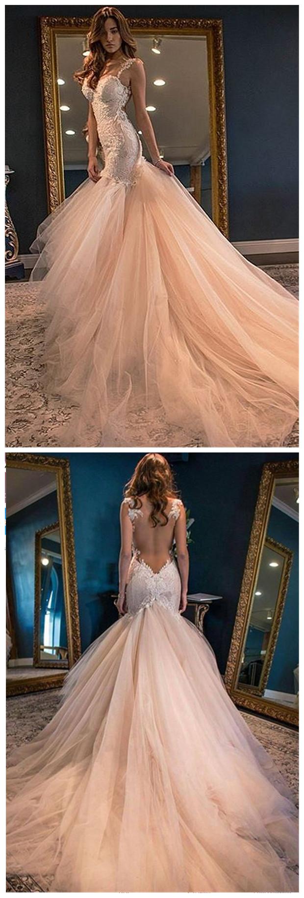 Glamorous_Sleeveless_Lace_Appliques_Wedding_Dress_Mermaid_Tulle_bridal_dresses_wedding_gowns
