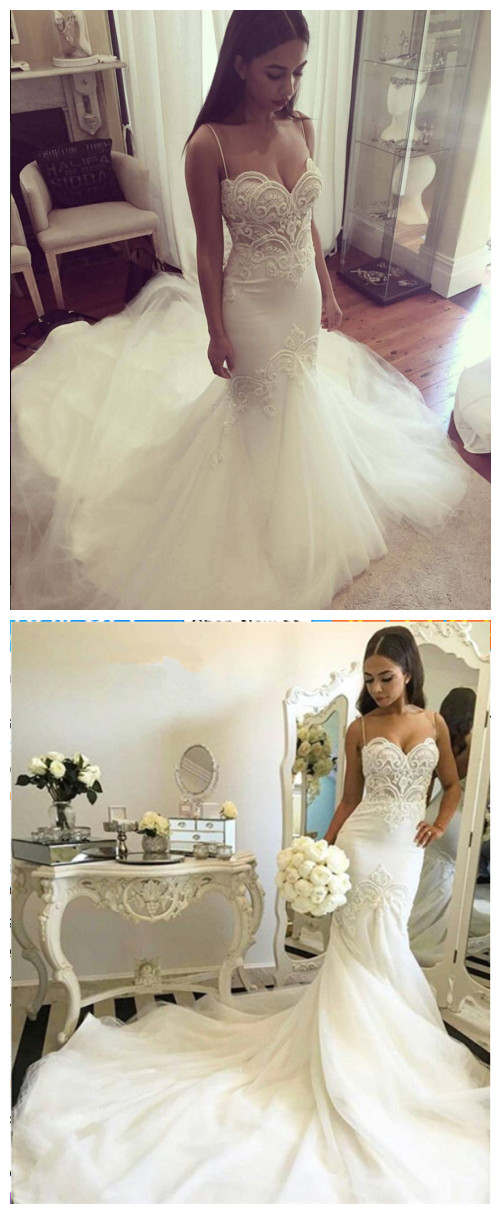 Delicate_Tulle_Lace_Spaghetti_Strap_Wedding_Dress_Court_Train_wedding_gowns_bridal_dresses
