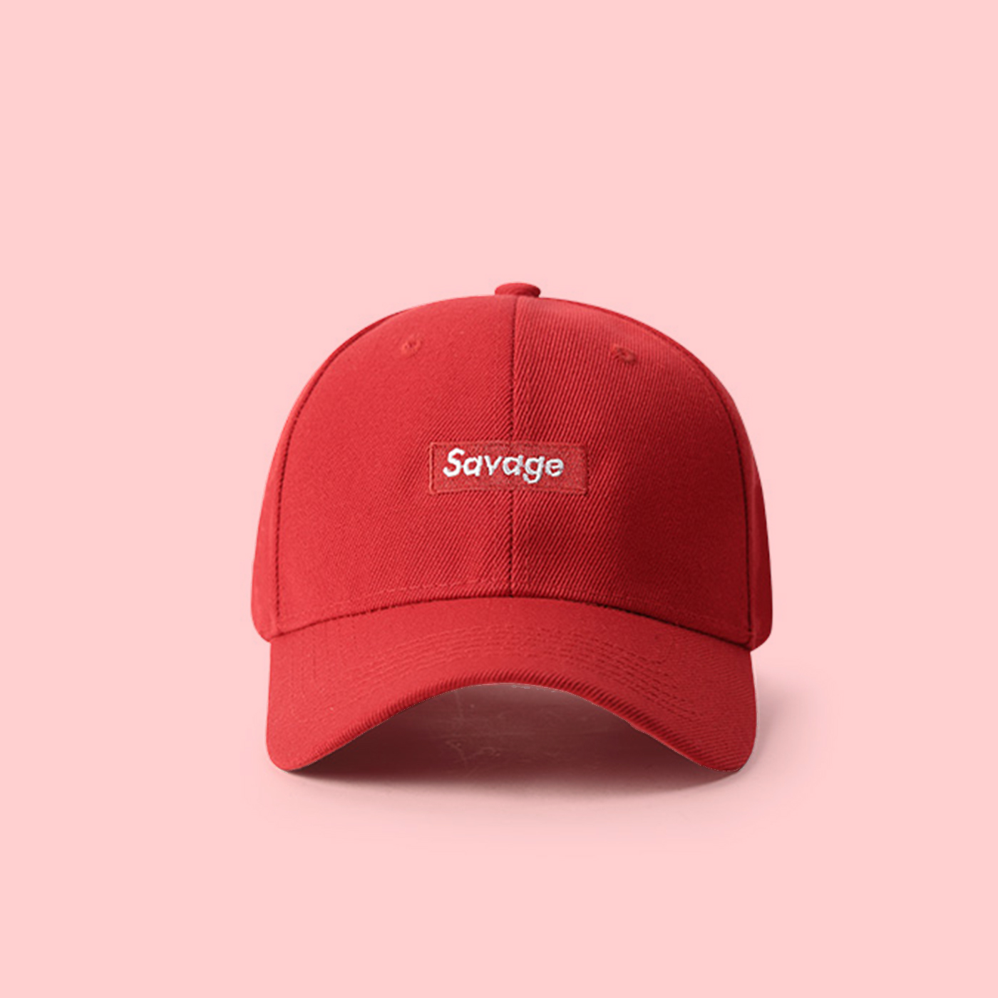8322dc8b1680d6 UNISEX SUPREME SPOOF SAVAGE BASEBALL CAP IN RED · soldrelax · Online ...