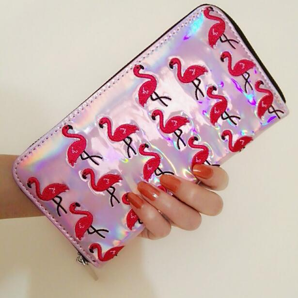 Hoglogram Flamingo Embroidered Wallet Purse (66017903 Moooh!!) photo
