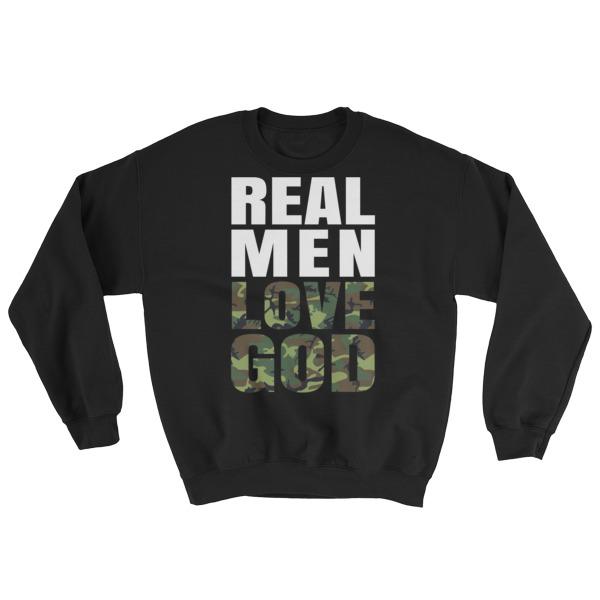 Real Men Love God (camo) Mens Sweatshirt
