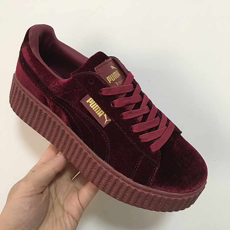 puma creepers burgundy womens 544102dd7b