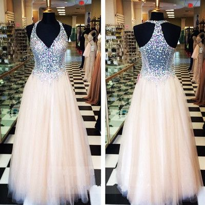 Image of A-Line Hot Sale Charming Long Beading Real Made Prom Dresses,Long Evening Dresses,Prom Dresses On Sale,2017 Custom Made