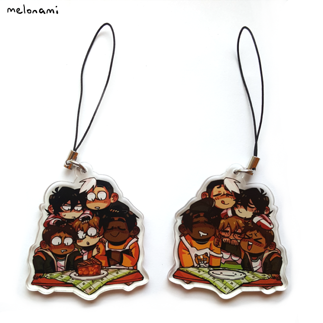 Image of Voltron Family Pie Phone Charm