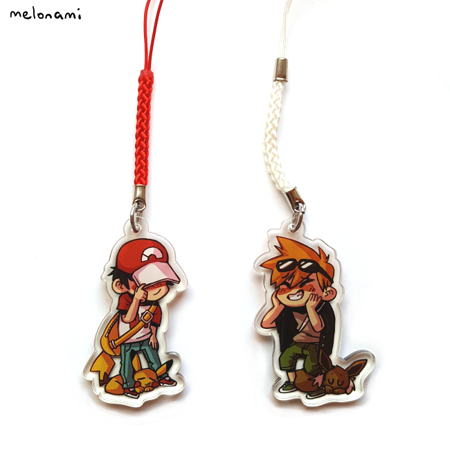 Image of Red and Green Phone Charms