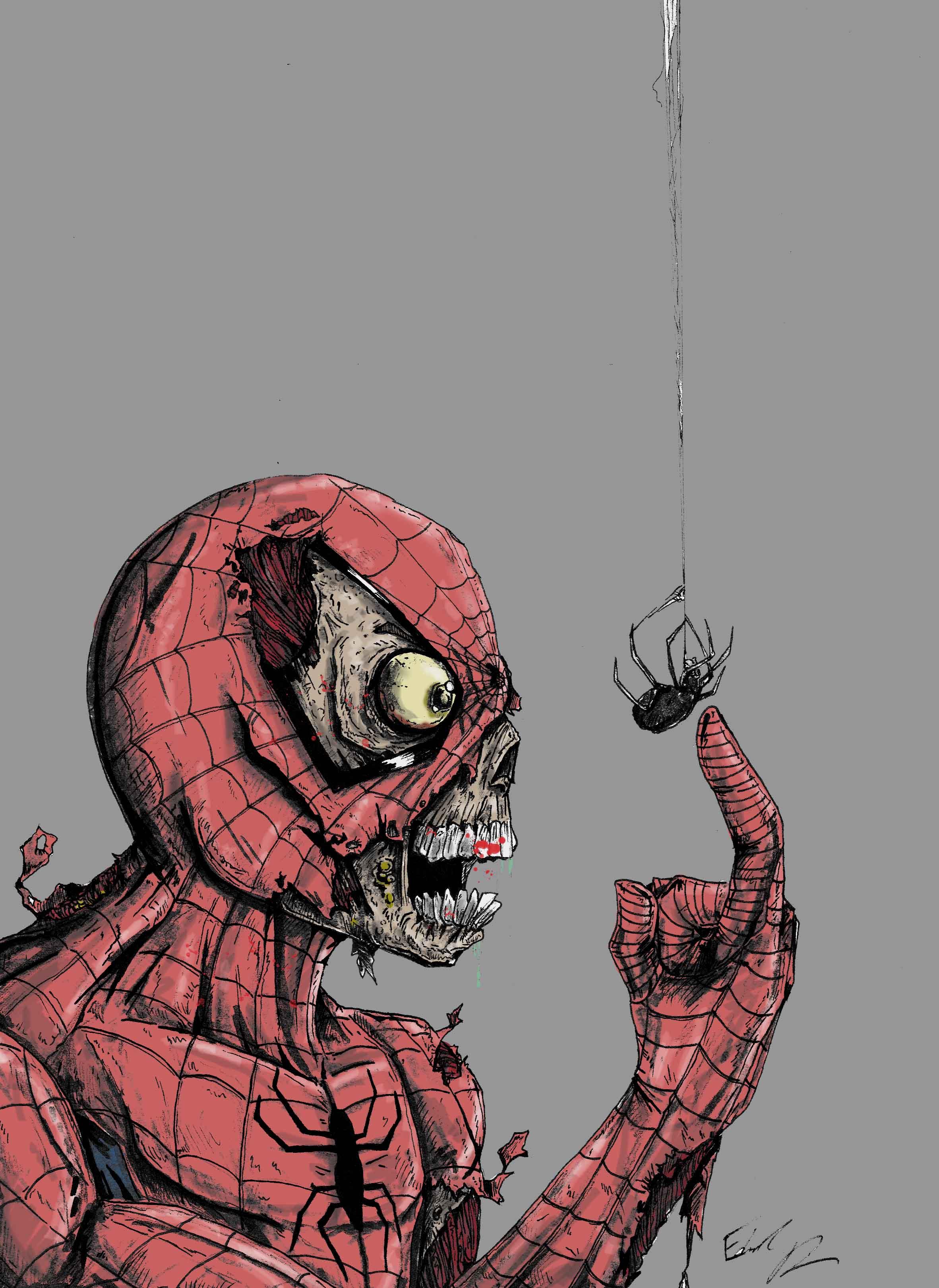 Quot Spiderman Zombie Quot Color Print On Storenvy