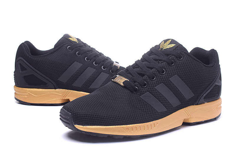 Fashion Adidas ZX Flux Core Copper Black Gold casual shoes