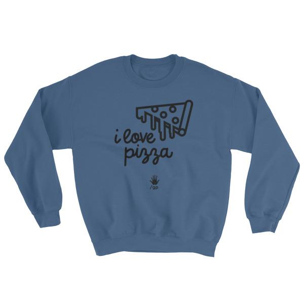 I Love Pizza // Mens Crewneck Sweatshirt