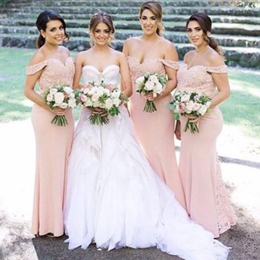 d34d6acbf7e Off Shoulder bridesmaid dresses