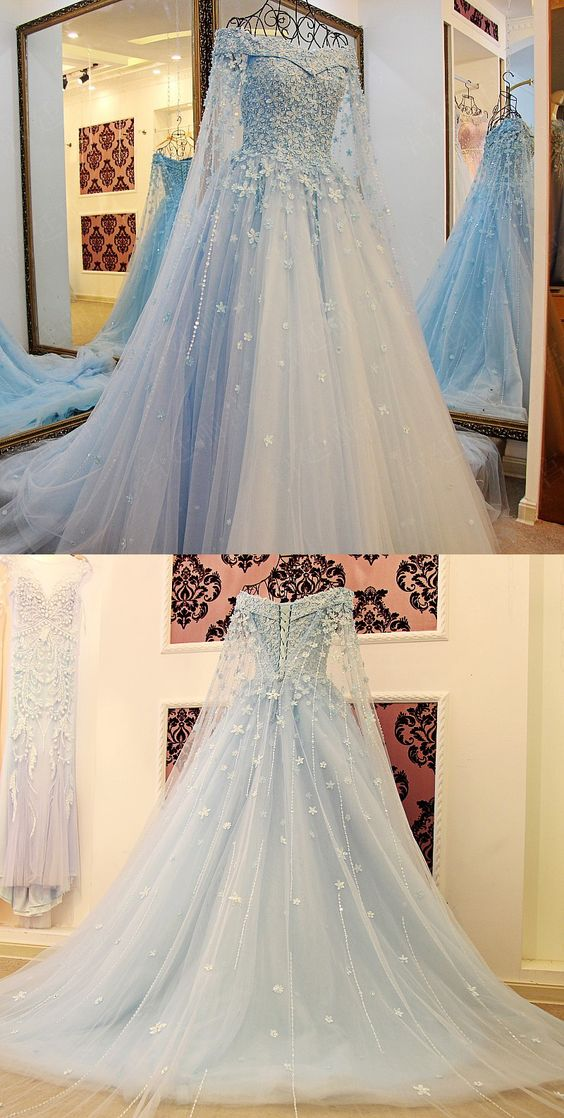 New Arrival Ice Blue Prom Dresses Off The Shoulder Prom