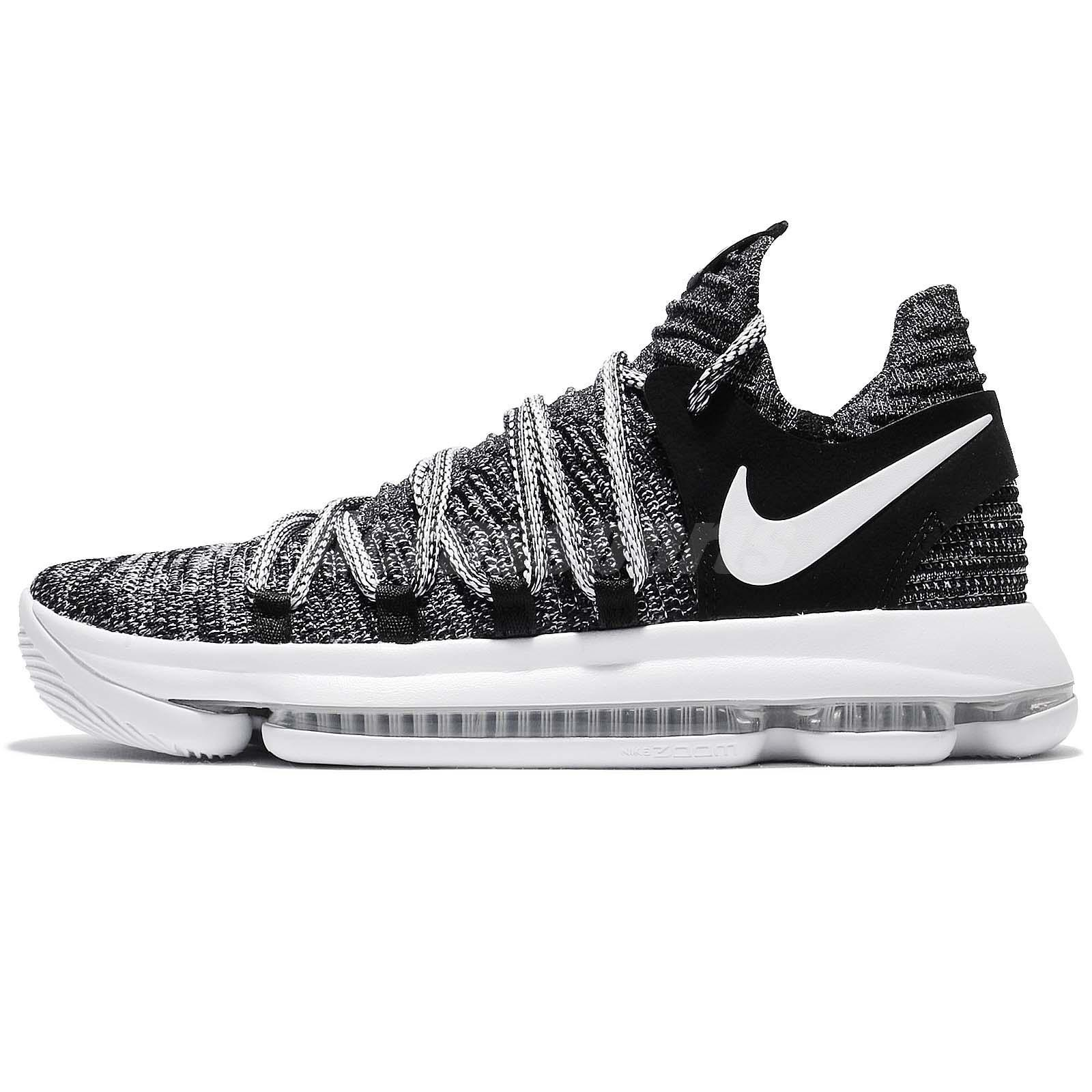 competitive price dbdd2 cd6c3 release date nike zoom kd 10 ep kdx durant fingerprint oreo black white men  xdr e262d