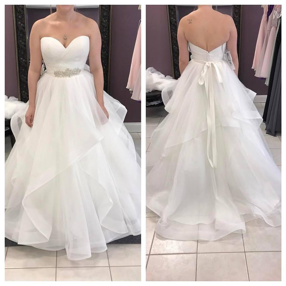 Plus Sizes Strapless Long Ivory A-line Backless Modest ...