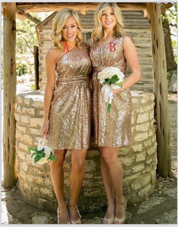 d04775294e0 P377 Gold sequin bridesmaid dresses