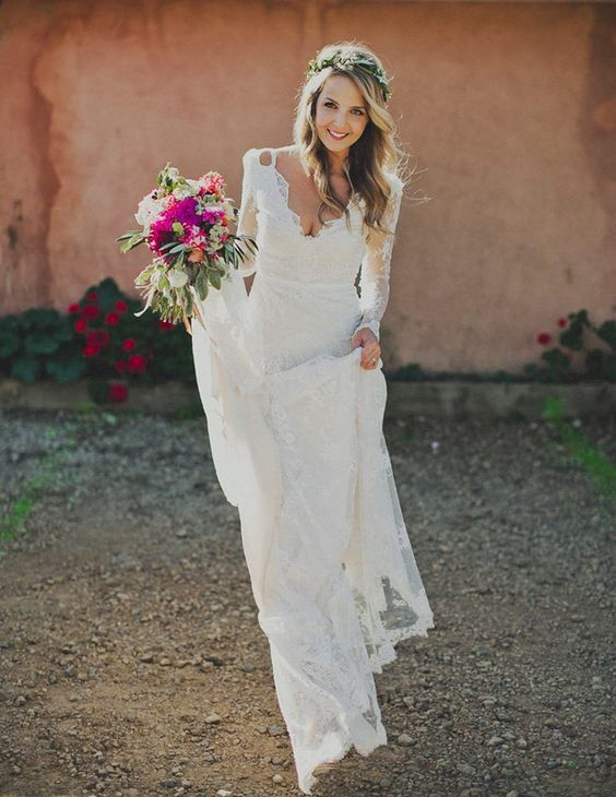 A Line V Neck Romantic Full Lace Wedding Dress Long Sleeve Lace White Beach Bride Dress Pretty Lady Online Store Powered By Storenvy,Average Cost Of Wedding Dress Alterations 2020