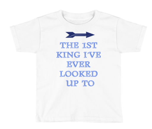 Toddlers Fathers Day First King T-shirt White