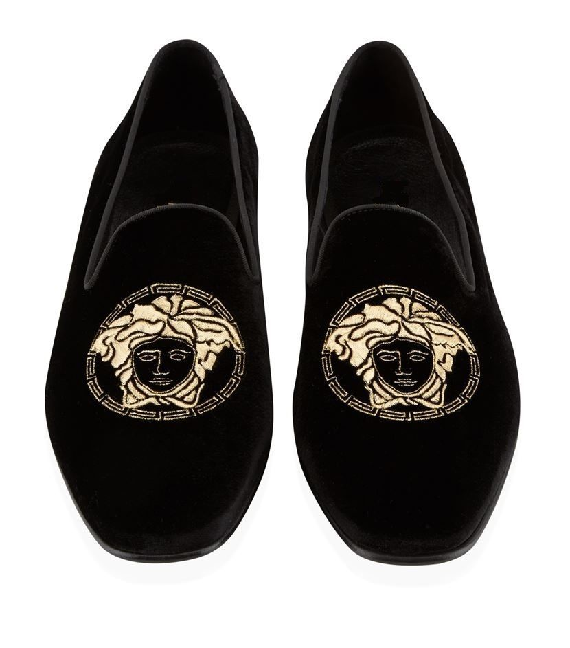 New Handmade Mens Velvet Embroidered ShoesMen Loafer Casual Party Velvet Slippers