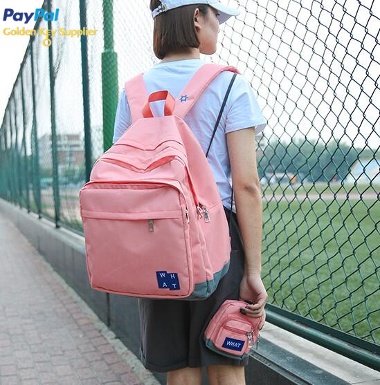 Layered School Backpack With Purse (67354559 Moooh!!) photo