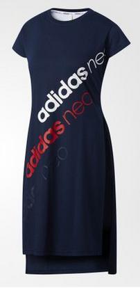 A Womens S-xl Sport Running Summer T-shirt Dress