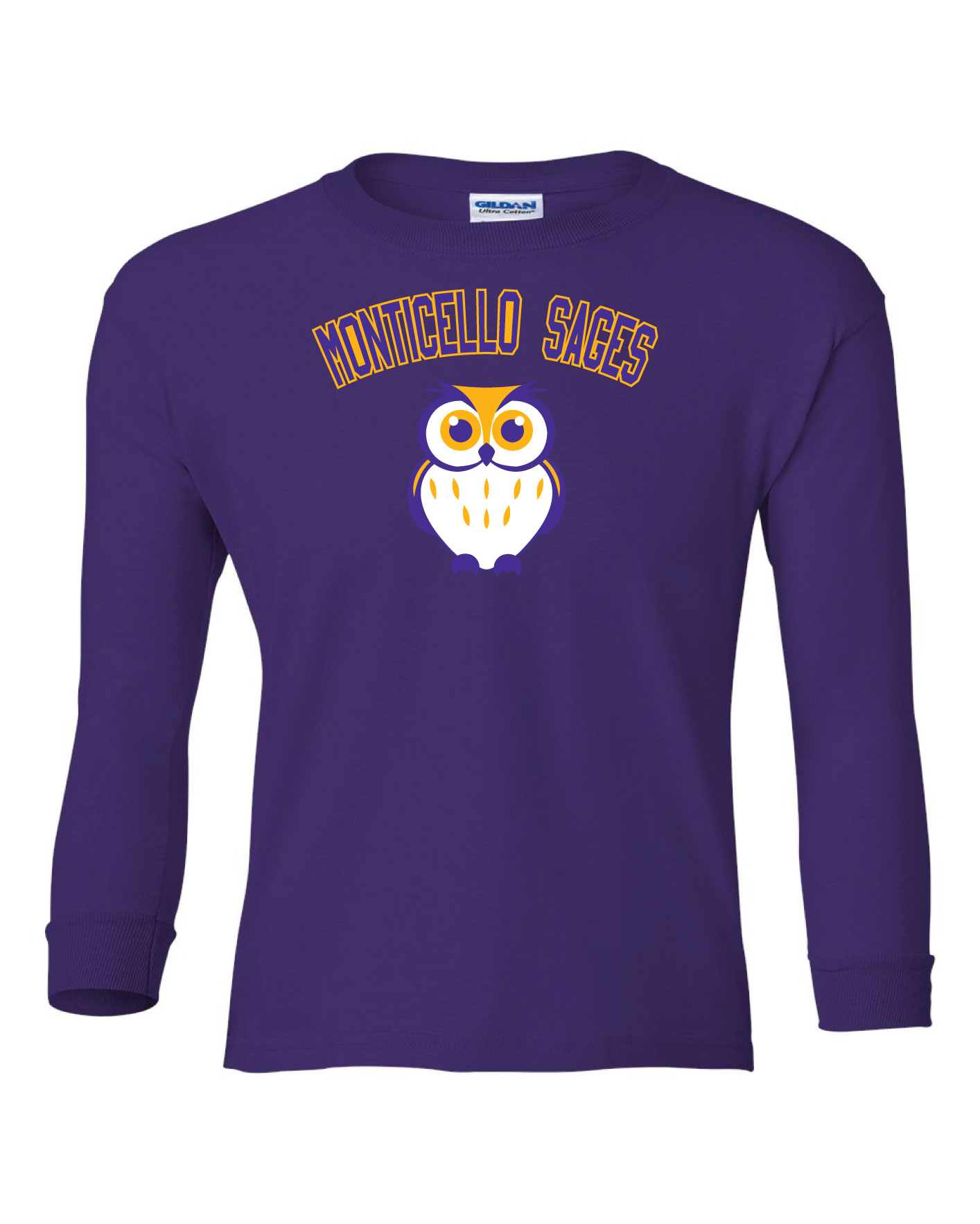 Youth Purple Little Sages Long-sleeved Shirt