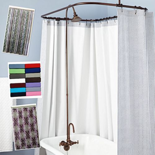 Shower Curtains Fabric And Vinyl Sets Many Styles Themes Bathroom Home Dorm